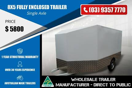 8x5 Fully Enclosed Trailer - GVM 2000kg Epping Whittlesea Area Preview