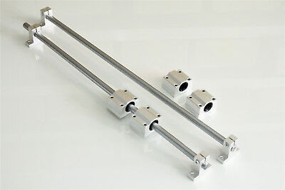 Shaft Rod 10mm 500mm Optical Axis Linear Rail Support Ball Bearing Block Set