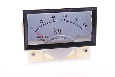 1class 2.5 Dc 0-100kv Range Analog Voltage Voltmeter Panel Meter 69c17 New