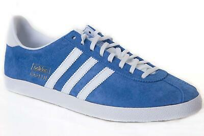 Adidas Men's Gazelle OG Casual Trainers Retro Sneakers Classic Shoes Blue
