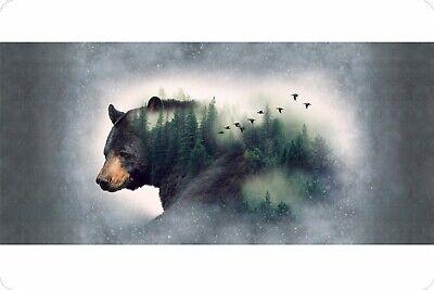 MINKY Black Bear Digital Print Panel 29 x 58 inches Shannon