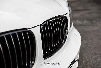 schwarz glänzende Nieren Set 1er BMW E88 Cabrio Frontgrill M salberk 8201 - Cabrio Schwarz Rahmen