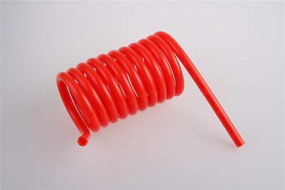 6mm Pneumatic Compressor Pu Recoil Air Hose Coil Spring Tube 3 Meter Red