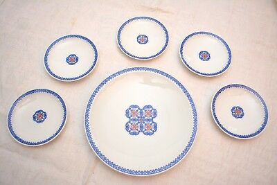 Vintage Japanese Dessert Plate Set of 6 ~ Made in Japan ~ Brand New with Box