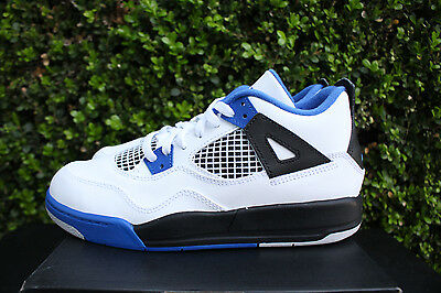 NIKE AIR JORDAN 4 RETRO IV PS SZ 3 Y MOTORSPORTS WHITE ROYAL KIDS 308499 117