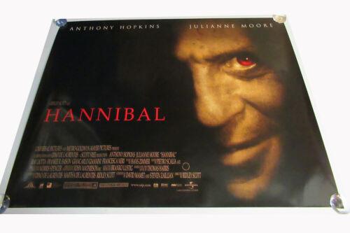 Hannibal movie UK quad poster ORIGINAL D/S full size Anthony Hopkins