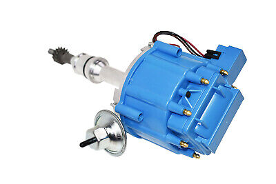 DEMOTOR PERFORMANCE For SBF Ford Small Block 260 289 302 HEI Ignition Blue Cap Distributor w// 65K Coil