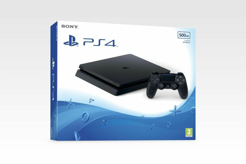 PS4+Slim+New+Look+500gb+Black+Console+-+Brand+New+%26+Sealed