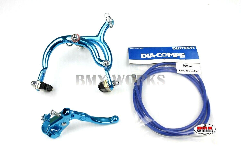 Old School Retro BMX Genuine Dia-Compe MX890 Bright Blue Rear Brake Caliper