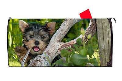 Cute Yorkie Dog Magnetic Mailbox Cover  Made in the - Cute Mailboxes