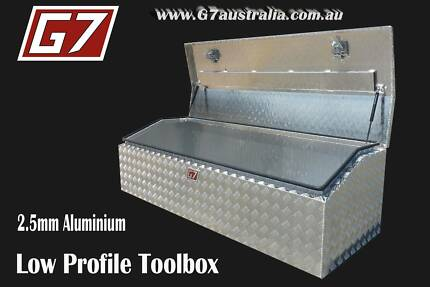 Low Profile Aluminium Toolbox with angled lid ute tool box New