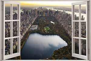 3d Effetto Finestra Vista Central Park Nyc New York