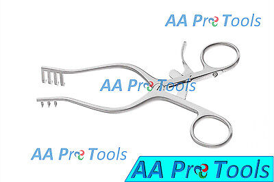 Aa Pro Weitlaner Retractor 6.5 Blunt 3x4 Prong Surgical Instruments