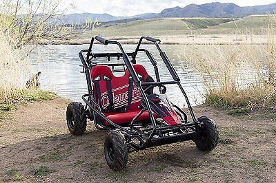 Powered Off-Road Go Kart Coleman Powersports KT196 Gas 2 person Red 196cc/6.5HP