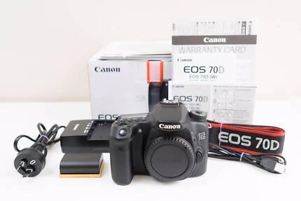 Canon 70D DSLR Camera Body Only ~Near New ~Warranty till 2021