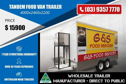 Tandem Food Van Trailer - GVM 2800 Epping Whittlesea Area Preview