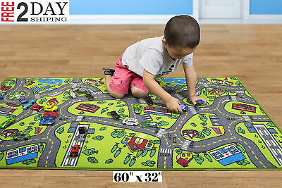 Race Car Track Rug Play Mat For Kids Toddlers Carpet Road Toy Track Floor Medium