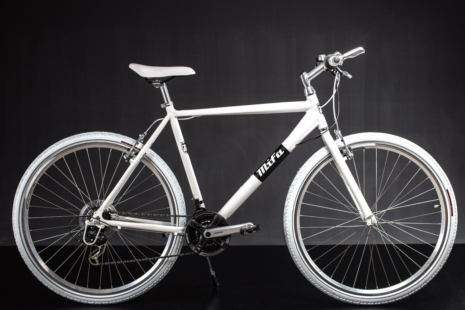 28 zoll crossbike alu mifa herren fahrrad mtb shimano 21 gang weiss ebay. Black Bedroom Furniture Sets. Home Design Ideas