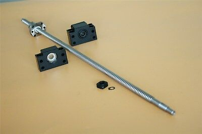 Sfu1204 250mm To1500mm Cnc End Machine With Bk10bf10 Support Ball Screw