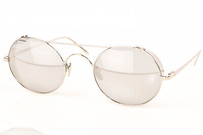 Linda Farrow LFL/427/2 silver 18K white gold plated frame sunglasses NEW $1215