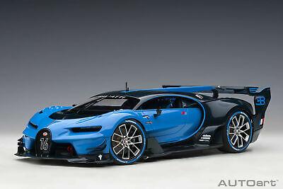 Bugatti Vision Grand Turismo French Racing Blue/Blue Carbon AUTOart 70986 1:18