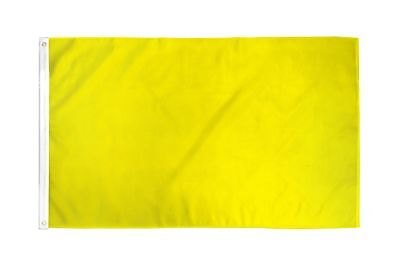2x3 Yellow Solid Color 210D 2'x3' Knitted Poly Nylon DuraFlag Banner (FI)
