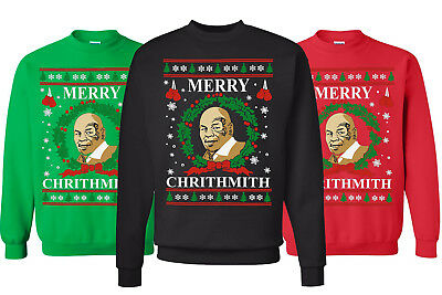 🔥 Merry Chrithmith Ugly Christmas Sweater Fun Mike Tyson Parody best Sweatshirt](Best Ugly Sweaters)