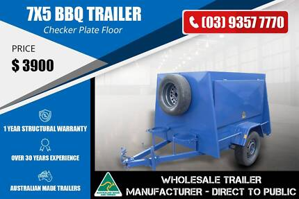 7x5 - BBQ Trailer - Smooth Sides Epping Whittlesea Area Preview