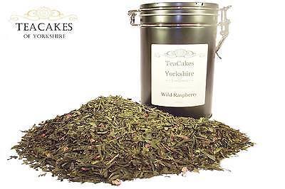 Wild Raspberry Green Tea Gift Caddy Aromatic 100g Loose Leaf Best Value