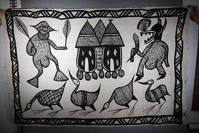 Crafts African Canvas of Korhogo Large Model 1