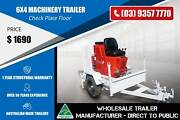 6x4 Machinery Trailer - Check Plate Floor Epping Whittlesea Area Preview