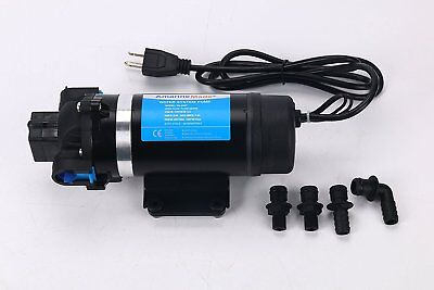 110v1.8gpm Self-priming Diaphragm Water Pump 160psi High Pressure For Wash