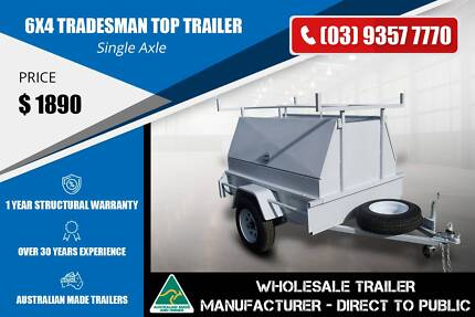 Tradesman Top Trailer - 6x4 - Single Axle Epping Whittlesea Area Preview