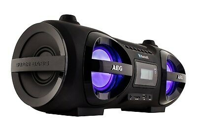 CD Player Boombox Ghettoblaster Bluetooth CD/MP3 USB, AUX AEG SR 4359 BT schwarz