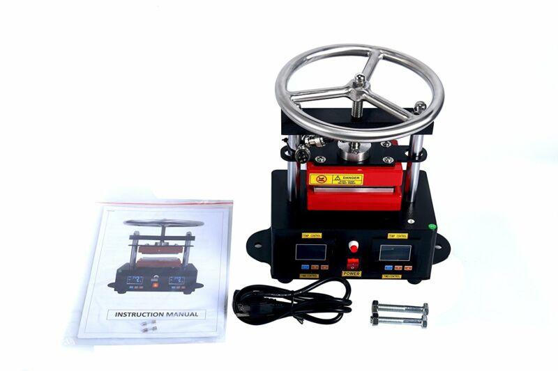 "2.4""X4.7"" Duel Heated Plates Manual Heat Transfer Rosin Heat Press Machine 110V"