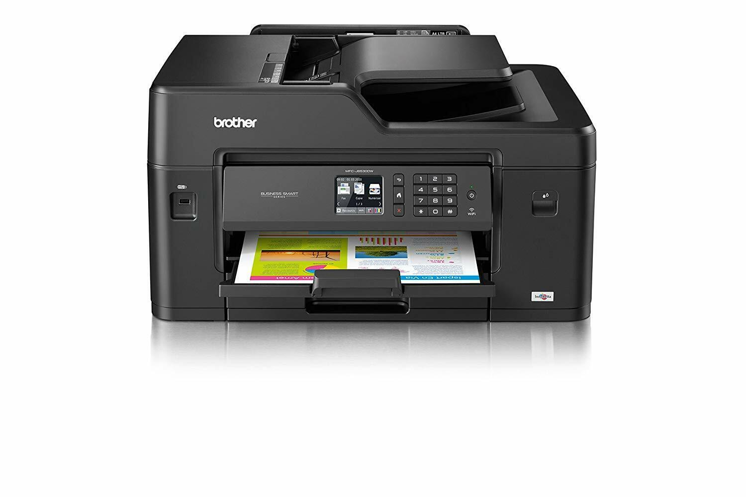 Brother imprimante multifonctions mfc-j6530dw 4-in-1 wi-fi usb2.0 airprint noir