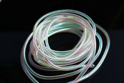 1 Spool Extra Thin Multi Mylar Braided Cord Cording Tinsel Flash #2 10 Yards