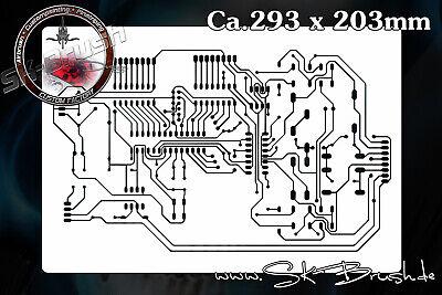 Schablone Board (Circuit Board Platine Leiterplatte Airbrush Schablone Electric Circuits Stencil)