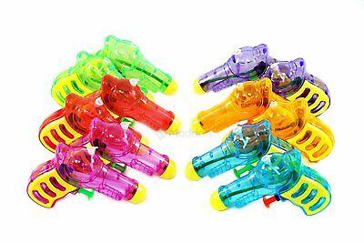 Bulk Water Guns (Assortmart 12 Squirt Guns For Kids - Transparent Neon Bulk Water Guns)