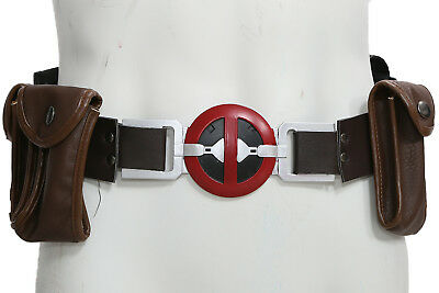 Deadpool Belt Cosplay (XCOSER Deadpool Belt with Metal Buckle+Pockets Movie Cosplay Costume)