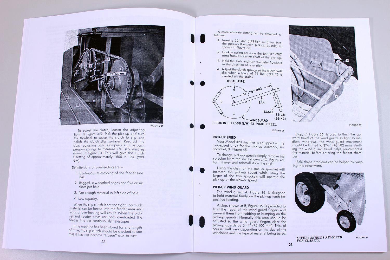 4 of 7 New Holland 320 Square Baler Hayliner Owner Operator Parts Manual  Catalog