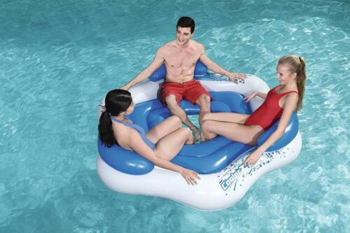 Large Inner Tube 3 Person Floating Island Pool Lake Beach Swimming Fun Inflate