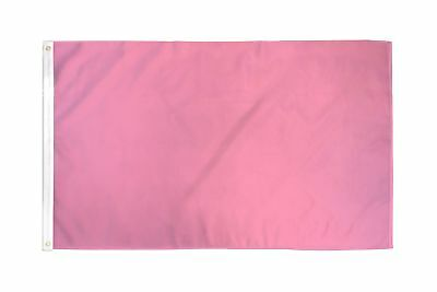 2x3 Pink Solid Color 210D 2'x3' Knitted Poly Nylon DuraFlag Banner (FI)