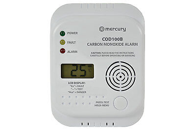 Latest Model Carbon Monoxide Alarm / Detector CO LCD Display Screen 7 Year Life