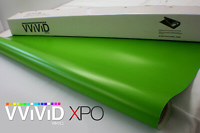 "Vvivid 3mil Lime Green Matte 3"" x 4"" sample vinyl wrap"