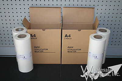 4 Master Rolls Compatible With Riso S-4250 For Risograph ...