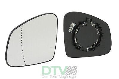 Spiegelglas mit Platte für SMART FORTWO 1998-2007 links beheizbar konvex
