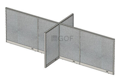 Gof X-shaped4-way Freestanding Office Panel Room Divider 156w X 60d X 48h