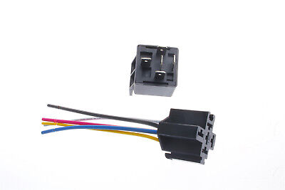 Us Stock 12v 40adc 5pin Car Spdt Automotive Power Relay With Harness Socket