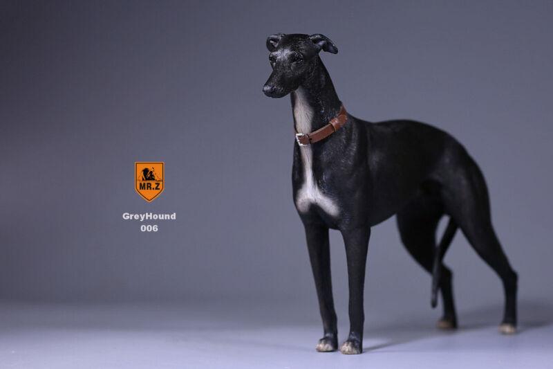 Realistic Greyhound  Sitting Dog Life Like Figurine Statue Home/Garder NEW AQ8